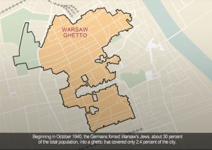 Warsaw Ghetto map