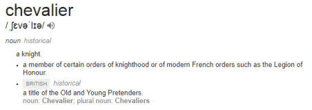 Chevalier meaning