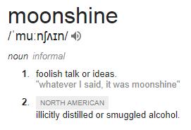 Moonshine definition