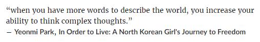 Yeonmi Park quote